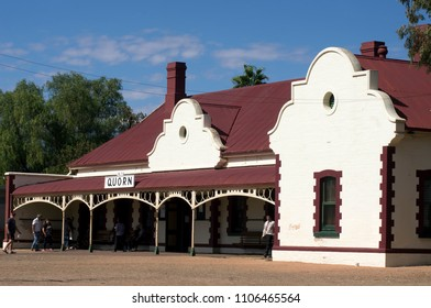 Quorn, South Australia - 22 April 2018: historic railway station