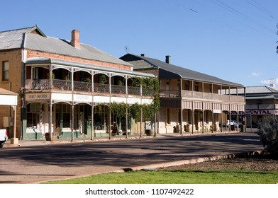 Quorn, South Australia - 22 April 2018: Quornucopia Tourist Emporium and Astral Inn