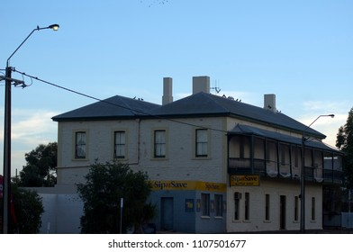 Quorn, South Australia - 22 April 2018:  Quorn Hotel on Railway Terrace