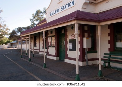 Quorn South Australia Apr 21 2018, heritage railway station now used by the Pichi Richi railway