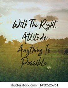 Quote about having right attitude