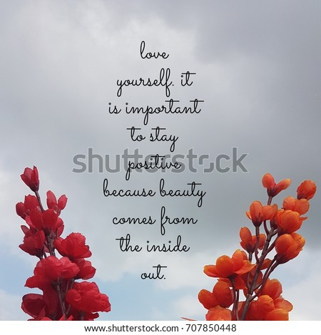 Love Yourself Quotes | Quote About Love Yourself Important Stay Stockfoto Jetzt Bearbeiten