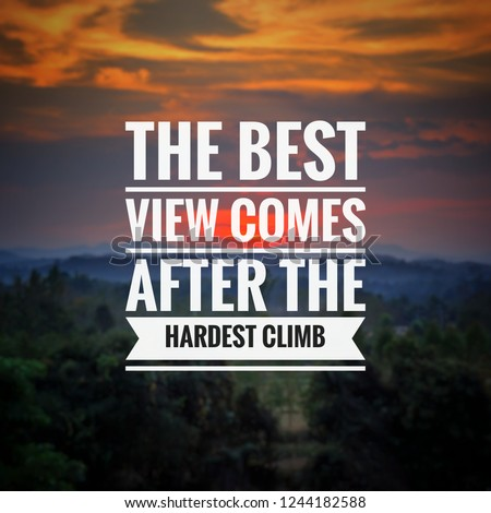 Quote Best Inspirational Motivational Quotes Saying Stock Photo