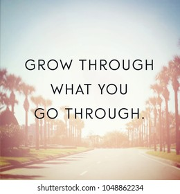 Quote - Grow through what you go through