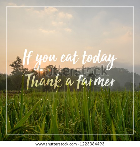 Quotes About Farming Agriculture Food Thought Stock Photo Edit Now