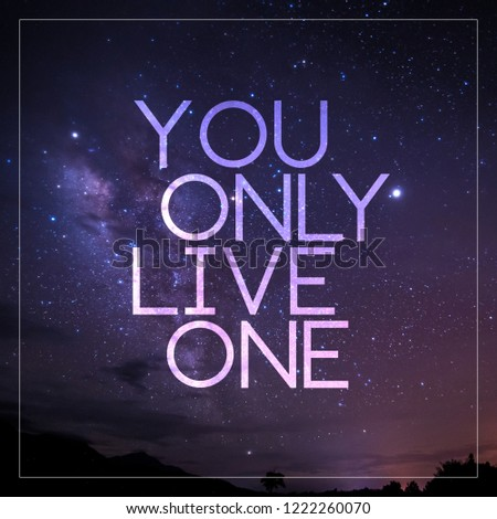 Quotes Galaxy Background Hopeful Concept Stock Photo Edit Now New Galaxy Quotes