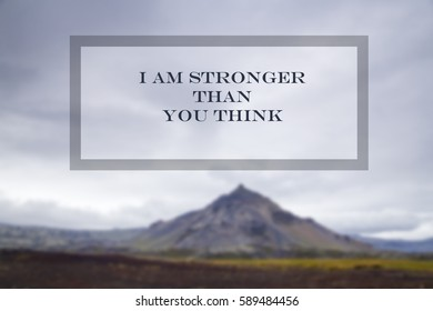 You Are Stronger Than You Think Stock Photos Images Photography
