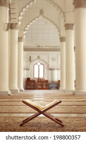 Quran - holy book of Islam in Malaysian mosque