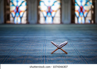 Quran - holy book of Muslims in the mosque