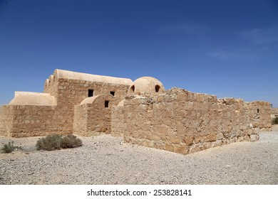 Quseir (Qasr) Amra desert castle near Amman, Jordan. World heritage with famous fresco's. Built in 8th century, castle is one of the most important examples of early Islamic architecture