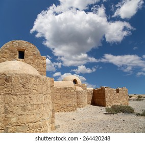 Quseir (Qasr) Amra desert castle near Amman, Jordan. World heritage with famous fresco's. Built in 8th century by the Umayyad caliph Walid II