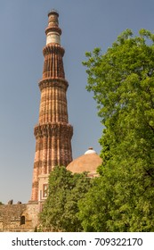 Qutb Minar - one of the UNESCO World Heritage Sites in Delhi. Its construction began in 1292 A.D. after the conquest of the area by the Afghan Muslims.
