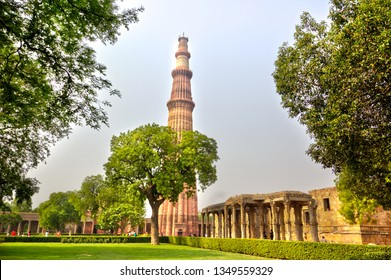 The Qutb Minar, also spelled as Qutub Minar, or Qutab Minar, is a minaret that forms part of the Qutb complex, a UNESCO World Heritage Site in the Mehrauli area of Delhi, India