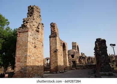 Qutub Minar (a UNESCO World Heritage Site in the Mehrauli area of Delhi, India)