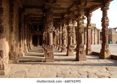 Qutub Minar Complex,New Dehli,India ( a UNESCO World Heritage Site in the Mehrauli area of Delhi)