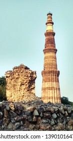 Qutub minar is a minaret situated in new delhi,the capital city of India.It is an ancient monumental structure built of stones.Its mughal architecture is tower like.It seems like an ancient skyscrappr