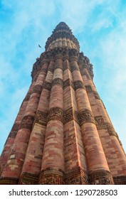 The Qutub Minar is a minaret that forms part of the Qutab complex, a UNESCO World Heritage Site in the Mehrauli area of Delhi, India. It is the world's tallest brick minaret.