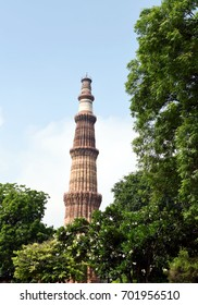 Qutub Minar, New Delhi. Qutub Minar is a 73 meters tall minaret built during the twelfth, thirteenth and fourteenth centuries.
