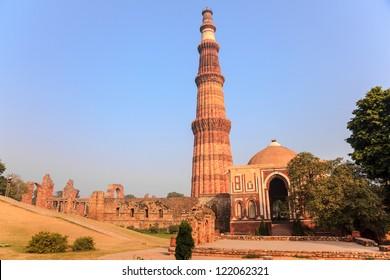 qutub minar, the tallest minaret in India