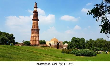 Qutub minar,A unesco world heritage site,tallest bricks minaret of the world,New Delhi,India