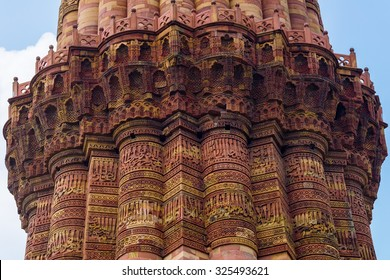 Qutub (Qutab) Minar, the tallest free-standing stone tower in the world, and the tallest minaret in Delhi, India.