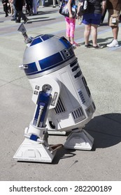 R2D2 at the Star Wars Celebration in Anaheim, California, April 2015.