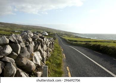R477 along The Burren loop, County Clare, Ireland