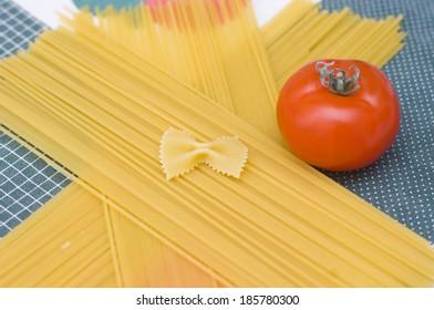 Rab spaghetti with tomato