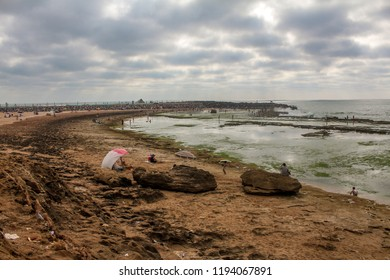 Rabat Beach, Emaar Morocco, one of the beach in the east of Rabat in summer