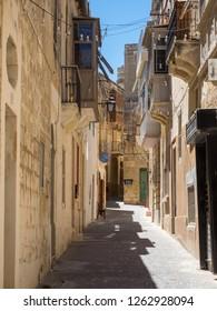 RABAT, GOZO / MALTA - JULY 3, 2017: Street scene in Victoria / Rabat, the capital of Gozo Island, Malta.