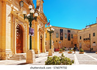 Rabat, Malta - April 4, 2014: People at St Paul Church in Rabat on Malta Island