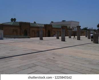 Rabat, Morocco / Morocco - August 2016: Mausoleum in Rabat