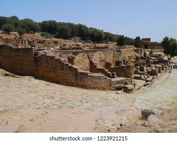 Rabat, Morocco / Morocco - August 2016: Ruins of Chellah in Rabat