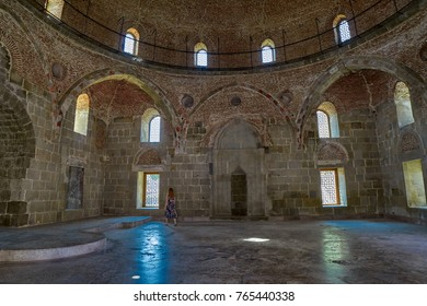 RABATI CASTLE, GEORGIA - 08 AUGUST 2017: Empty Interior of Mosque in famous renovated castle complex of Akhaltsikhe city