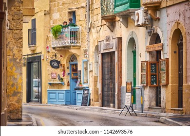 RABAT/MALTA - November 21, 2017: The main street in Rabat, Malta