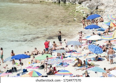 Rabbit beach at Lampedusa Island - Sicily, Italy, Europe, Mediterranean - july 5 2013 - editorial use only