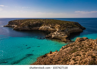 The Rabbit Beach in Lampedusa, Pelagie islands