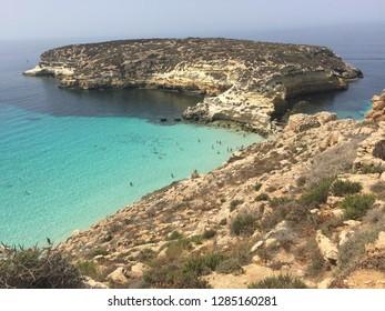 Rabbit beach in Lampedusa, Sicilia, Italy.