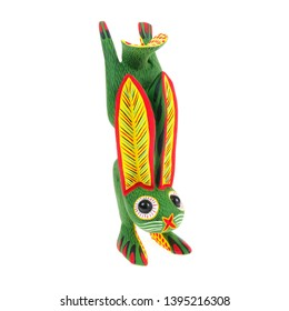 Rabbit bunny alebrije wood carving sculpture mexican folk art decor