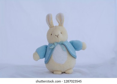 Rabbit doll  on a white background