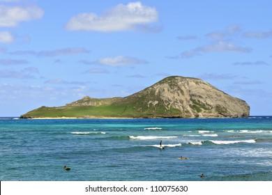 rabbit island (Manana) viewed from Makapuu Beach