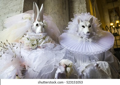Rabbit and wolf as married couple