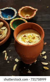 Rabdi or Rabri served in clay pot  - Diwali desserts