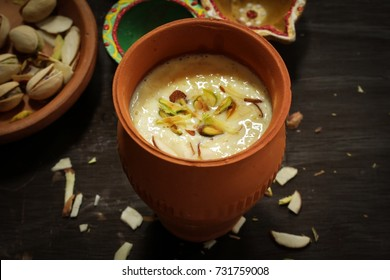 Rabdi or Rabri served in clay pot  - Diwali desserts