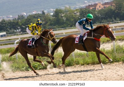 Race for the prize of the Budennogo in Pyatigorsk,Northern Caucasus, Russia.