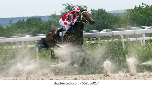 "Race for the prize of the ""Letni"" in Pyatigorsk,Northern Caucasus, Russia."