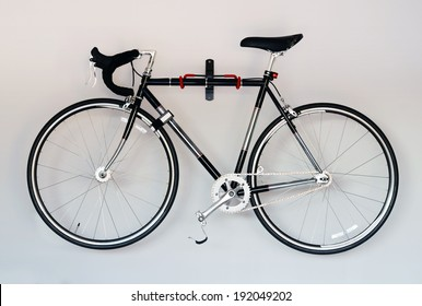 race road bike on white background