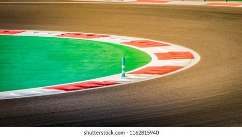 Race track. Detail of racing circuit.