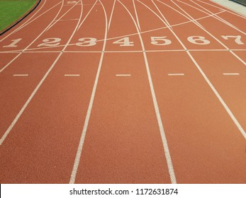 A race track at a highschool.