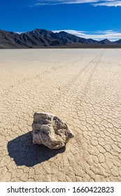 The Race Track Playa in Death Valley National Park in California
